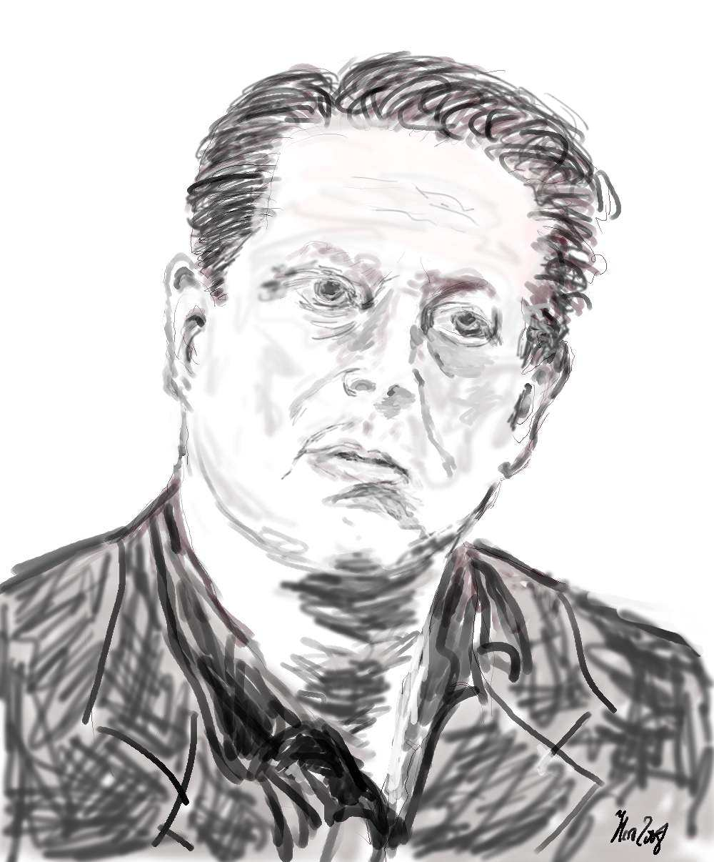 Al Gore- Digitalgrafik (Wacom- Tablett)